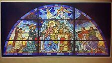 "Nativity Scene Stained Glass Poster Art GIGANTIC 24"" x 48""  Christmas Jesus Mary"