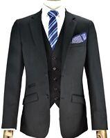 Designer Men's Self Black Formal Suit Blazer Jacket -