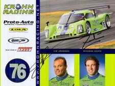 2008 Krohn Racing #76 signed Pontiac Daytona Prototype Grand Am postcard