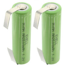 2x Exell AA Size 1.2V Rechargeable 2500mAh NiMH Batteries w/ Tabs FAST USA SHIP