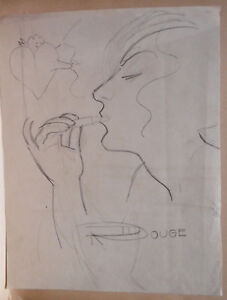 """Drawing Antique Mine Lead Stone Subtle """" Red Heart """" PS138"""