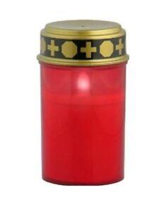 Rouge LED Bougie Grave Lanterne pour Tombe Décoration Funéraire Lampe