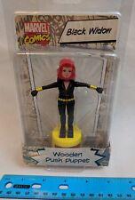 Marvel Comics Avengers Black Widow Wooden Push Puppet MOC Entertainment Earth