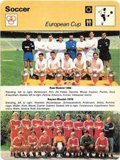 1977 Sportscaster Card Soccer European Cup # 10-09 NRMINT / MINT.