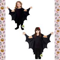 🦇CHILDRENS KIDS VAMPIRE BAT WINGS BLACK CAPE DRACULA COSTUME HALLOWEEN GIRLS🦇
