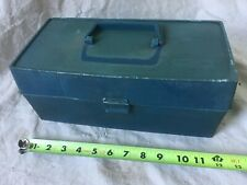Vintage Old Pal Pf 1040 Blue Plastic Fishing Tackle Box one tray Used