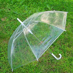 45'' Large Transparent Umbrella Clear See Through Wedding Party Decor Dance Prop