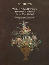 In ritardo Paul wallraf COLLEZIONE: opere d'arte catalogo asta & Furniture