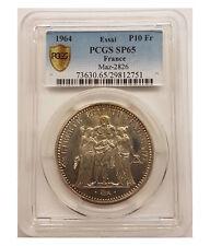 ESSAI 10 Francs Hercule 1964 PCGS MS65 - FDC - 3500 exemplaires
