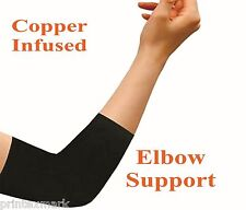 1Pair Comfort Copper Compression Elbow Support Brace Sports Infused Arm Guards