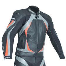 Giacche grigio grigio con fodera trapuntata per motociclista