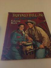 Vintage 1957 VINTAGE BUFFALO BILL, JR & CALAMITY COLORING BOOK Whitman Publ.