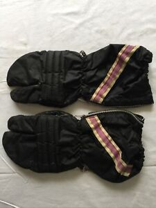 Vintage Arctic Cat Snowmobile Gloves Leather 1971