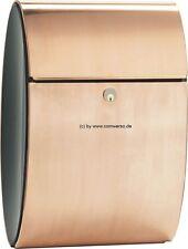 Briefkasten Allux Ellipse Kupfer mit Rukoschloß