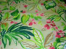 "~5 2/8 YDS~REGAL""MODERN TROPICAL LEAVES"" DRAPERY UPHOLSTERY FABRIC FOR LESS~"