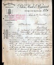 """PARIS (II°) BRODERIES ETOFFES d'AMEUBLEMENT """"PILON , HUET & RIGOTARD"""" 1890"""