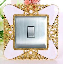 Oro Principesse Corona Interruttore Singolo per Luci Cornice Presa Dita Piatto