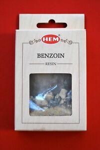 Boite de 30 grs d'encens en résine BENJOIN de la marque HEM ( promo de juin )