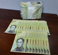 25 x Venezuela 100000 (100,000) Bolivares, 2017, P-100, about UNC banknotes