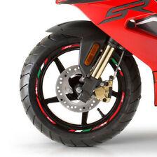 Aprilia Racing SR50 13'' wheel decals stickers rim stripes SR 50 scooter Red