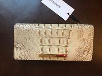 $95 Brahmin ADY Wallet SAND Melbourne Bi-Fold Genuine Leather Pretty NWT!