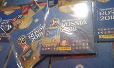 ALBUM PANINI HARDCOVER -COPERTINA RIGIDA-FIFA WC RUSSIA 2018+3BUSTINE SIGILLATO