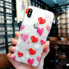 Cute Pattern Silicone TPU Soft Crystal Clear Case Cover For iPhone X 8 6s 7 Plus