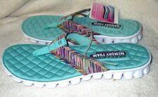 New *SKECHERS*  Memory Foam,Gel Infused,Sea Foam Green,Thong Sandals 7M