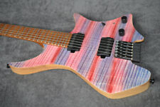 2019 NK Headless guitar Fanned Frets 5-ply Roasted Flame Maple Neck Multicolor