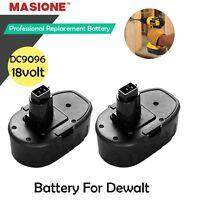 2X 2.0Ah 18V Volt NiCd Battery for Dewalt DC9096 DW9095 DW9096 DW9098 Power Tool