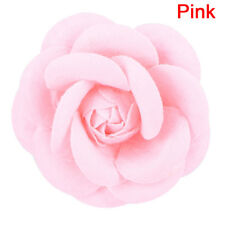 Camellia Flower Pin Brooches Craft Party Cloth Women Brooch Jewelry Accessory QQ Purple