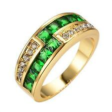 Emerald Yellow Gold Filled Fashion Rings