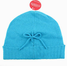 c184a816afa82 CHARTER CLUB Touch Of Cashmere Wool Knit Beanie Hat in Capri Breeze Blue  NWT  44
