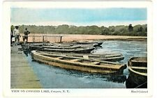 Congers Ny - Congers Lake Rowboats From Dock - Postcard