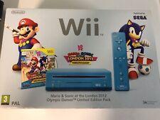 Nintendo Wii Mario Y Sonic Edición Limitada Azul Pal España Leer