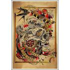 Deep by Tyler Bredeweg American Traditional Tattoo Art Print Poster for Framing