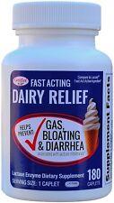 Fast Acting Lactase 180 Caplets Generic Lactaid Fast Act 9,000 Units per Caplet