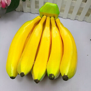 Plastic Artificial Fruits Banana Kitchen Fake Fruit Cabinet Party Decor Gifts