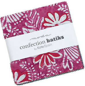 """Confection Batiks Moda Charm Pack 42 100% Cotton 5"""" Precut Quilt Squares"""