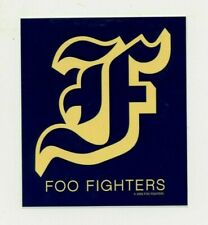 "Foo Fighters Sticker - 3.5"" x 4"" / ""F"" Logo Old English Font / Blue & Yellow/Tan"