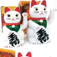 Chinese Lucky Wealth Electric Waving Cat Beckoning White Cat High Quality D8C
