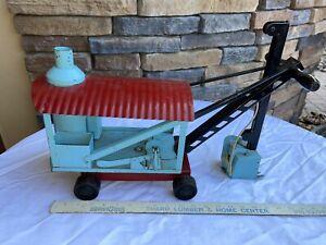 Antique Keystone Ride-Em Ride On Steam Shovel Pressed Steel Construction VTG