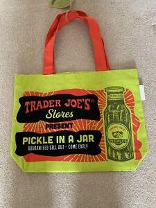 Trader Joe's Canvas Pickle Bag BNWT