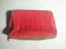 Vintage Tommy Hilfiger Toiletry Bag Red Knit toileteries