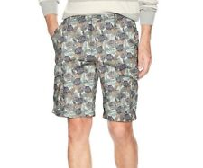 IZOD Men's Solid Rip-Stop Cargo Beachtown Shorts Relaxed Classic, Stone, Size 44