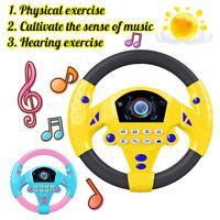 Kids Baby Car Steering Wheel Light Sound Toddler Musical Game Educational Toys