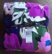Vera Bradley Flower Garden Throw Blanket 50�x80�, Nwt