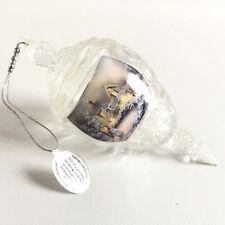 "Thomas Kinkade Heart of Christmas 2012 Crystal Ornament 6"" Decor Decoration"