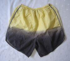 Tusnelda Bloch Stretch Waist Ombre Yellow Gray Black Active Shorts - Size S