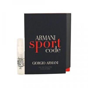 Armani Code Sport .05 oz / 1.5 ml Eau De Toilette Mini Vial Travel Spray